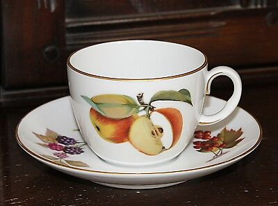 Beautiful Royal Worcester Evesham Gold Porcelain Tea Cup and Saucer
