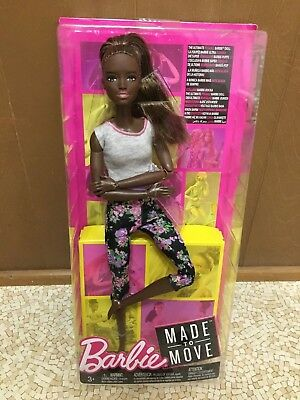 Barbie Made to Move Ultimate Posable Articulated Jointed African American Doll