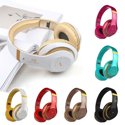 Wireless Headphones Bluetooth 4.2 Headset Noise Cancelling Over Ear w/Microphone