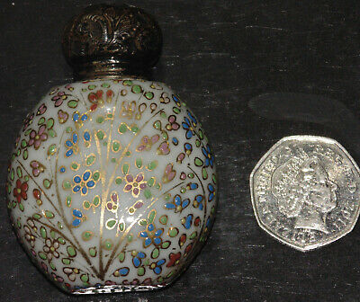 Antique -Charles May - Scent Bottle / Perfume Bottle -Silver Bottle Cap-yr 1905