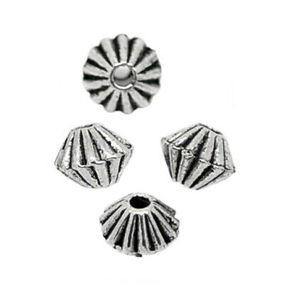 Gift Wholesale Silver Tone Bicone Spacer Beads Findings 200PCS