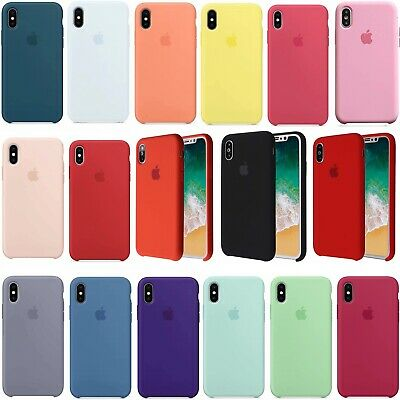 Original Silicone Back Case Cover Genuine For Apple iPhone XR XS Max 8 7 6 Plus