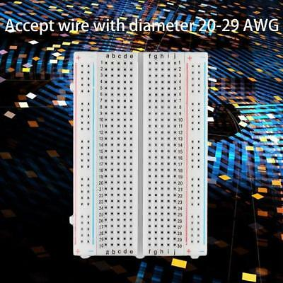 Mini Solderless Breadboard 400 Contacts Tie-points Universal Available New WT