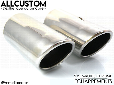 CHROME EXHAUST TIP MUFFLER TAILPIPE for MERCEDES C CLASS W204 2007-11 AVANTGARDE