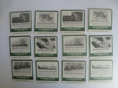 2 different sets of 6 complete VICTORIA BITTER beer  COASTERS collectable
