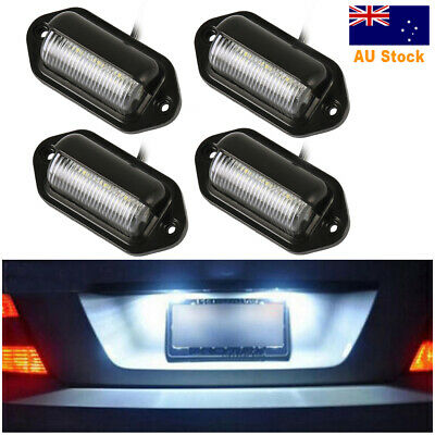 4X 6 LED License Number Plate Light Lamps for Truck SUV Trailer Lorry 12/24V 2PC