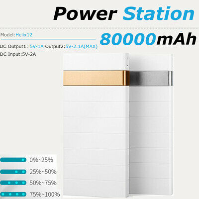 Powerbank 80000mAh 5V 2A Portable Dual USB LED Battery Charger for Smartphones