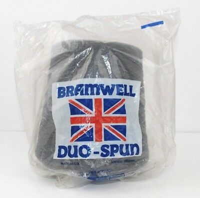 Bramwell Duo-Spun Dark Grey 475g 100% Acrylic Knitting Yarn Cone