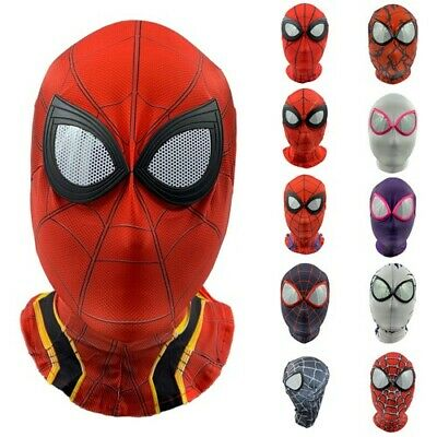 Spiderman Cosplay Costume Spandex Full Mask Head Cover Spider Man Hat Hood Skin