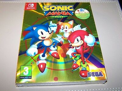 Sonic Mania Plus  **New & Sealed ** Nintendo Switch (Damaged)