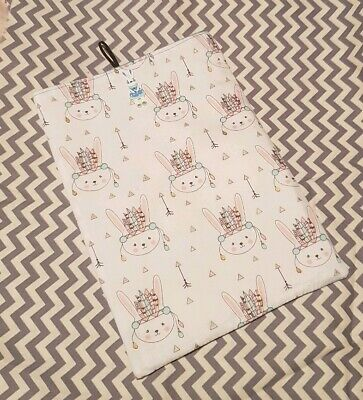 Large Book Pouch Book Cover Book Sleeve - Bunny Design
