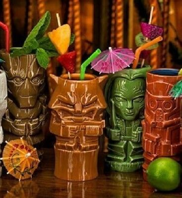 Marvel Guardians Of The Galaxy 4 Tiki Becher-Set Starlord Groot Gamora Racoon