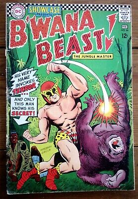 SHOWCASE 66, featuring B'WANA BEAST!, FEB 1967, DC COMICS, GD
