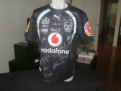 NRL New Zealand Warriors 2008 Centenary of Rugby League Signed jersey