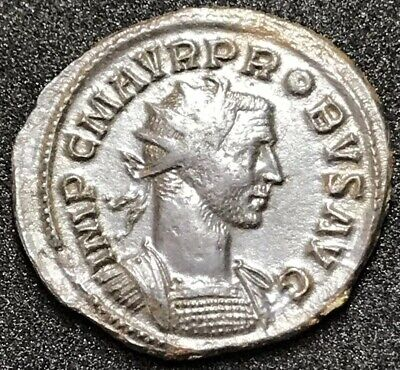 Ancient Roman Imperial Coin. Superb Probus Ae Silvered Antoninianus