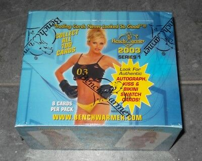 BENCHWARMER 2003 series 1 Trading Cards BOX 8 cards per pack bench warmer