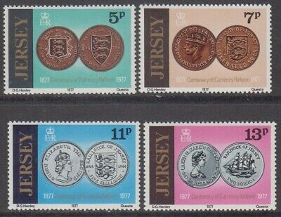 Jersey 1977 Currency Reform Centenary complete set MNH SG 171-174