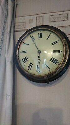A Fine Antique Convex Dial Fusee Wall Clock