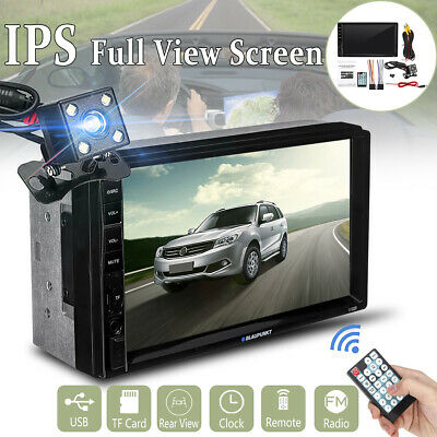 """7"""" IPS 2DIN Touch Screen Car Stereo Radio MP5 Player bluetooth FM AUX HD Camera"""