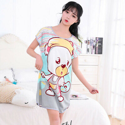 Women Homewear Ladies Summer Short Sleeve Milk Fiber Leisure Scoop Neck 2018