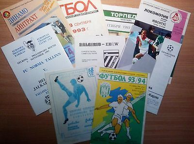 1992/93 - 1999/2000 Programmes Chl Champions League Updated September 2019