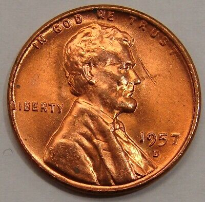 1957-D LINCOLN CENT Doubled Die Obverse Die #14 Choice