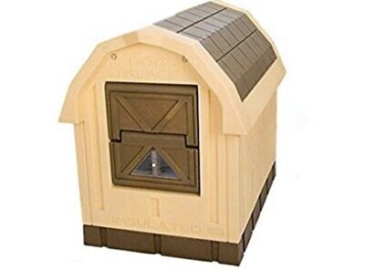 ASL Solutions Deluxe Insulated Large Dog House Palace with Floor Heater Pad