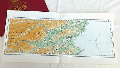 Vintage cloth OS MAP of SCOTLAND, DUNDEE & PERTHSHIRE - 1924