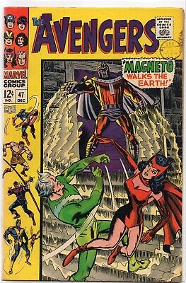 THE AVENGERS #47 Silver Age Marvel Comics 1967 Higher Grade VF-
