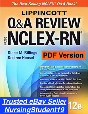 Lippincott Q & A Review for NCLEX-RN 12th Edition (PDF) not 10 11 *FAST DELIVERY