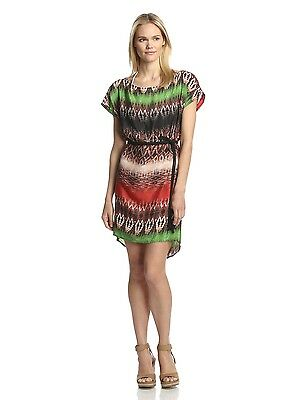 24b2fa462e318 NWT ViX Paula Hermanny Size Small Paje Lora Short Dress Multi Color Silk  $288