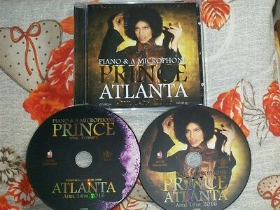 """PRINCE 2 CD LIVE """"ATLANTA 2016"""" FOX THEATRE 1 DAY 2 SHOWS -GOLD CDs -OOPS!- RARE"""