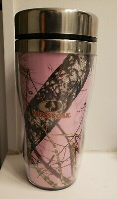 79acc655700 Mossy Oak Break Up Pink Camo Camouflage 14oz Stainless Steel Tumbler/Cup NEW