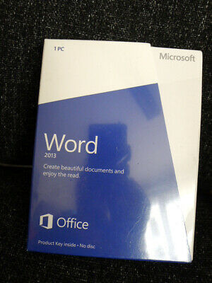 Microsoft Word 2013 genuine in factory sealed box