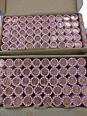 2015 P & D Original Bank Wrapped Lincoln Penny Cent Rolls - 1 Of Each