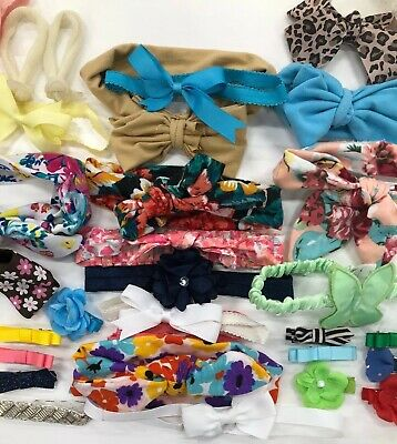 Hair Clips - Bows - Headbands Baby Girls - Lot Of Hair Accessories 34 Pieces
