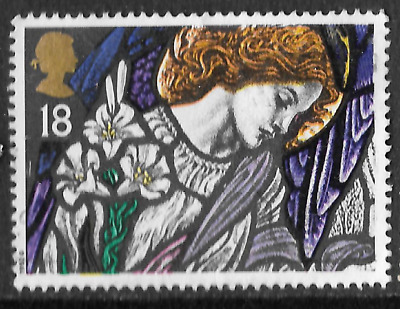 Stained Glass Windows  Angel Gabriel, St James, Christmas Stamp 1992 18p