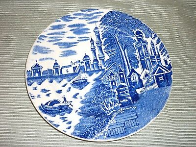 Antique Blue and White Plate Chinese? Arabic? Minarets