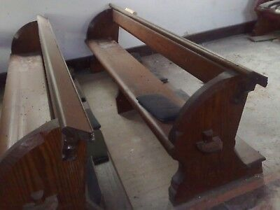 ANYSIZE 1875 Pugin Pew Victorian Church Neo Gothic with provenance chapel settle