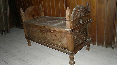 Jodang Indonesian Wedding chest oriental ornately carved wooden Javancoffercrib1