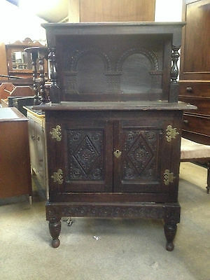 Georgian Period Oak Antique Court Cupboard Cabinet 18th century c1740 Dresser