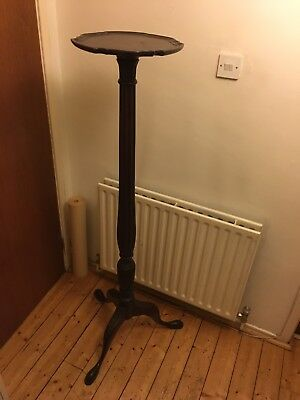 carved gothic mahogany church torchere candlestand early victorian late georgian