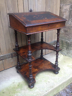Late 17th Early 18th Century walnut English joined standing writing desk c.1700