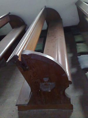 Large 1875 Pugin Pew Victorian Church Gothic w/ provenance chapel settle bench