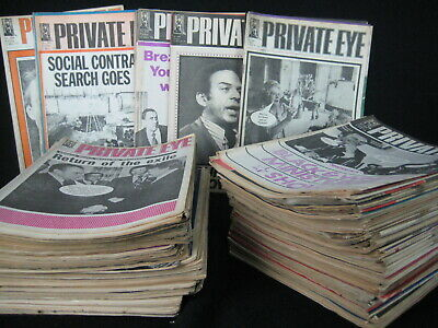 117 x  Punch Magazines spanning the 1970s with a few late 60s and early 80s