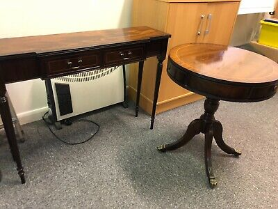 antique style table and console table