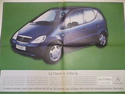 Poster 4 Pages Auto : Mercedes : Classe A