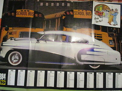 Poster 8 Pages Auto : Nitro 1984 + Metal 5 + Calendrier 1984