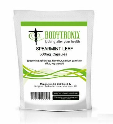 Spearmint Leaf Veg Capsules Bodygenix UK Made - Free Next Day Postage