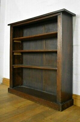 Antique vintage early 20th century Oak open bookcase